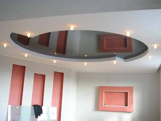 Потолок ГКЛ на фотографии