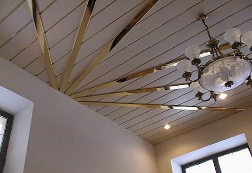 Алюминиевый потолок открытого типа на фото