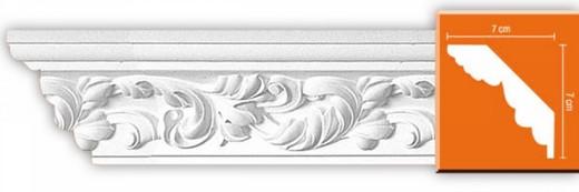 Плинтус потолочный от производителя Декомастер - одна из популярных моделей
