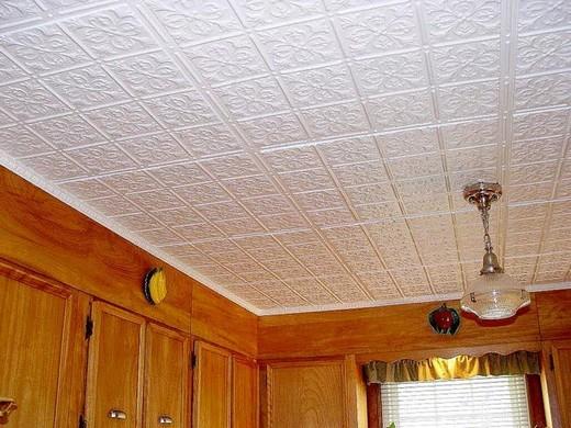 Потолочная плитка 50х50 из пенопласта