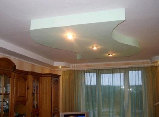 На изображении потолок, на который нанесена силиконовая краска