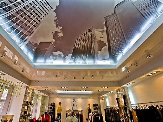 Использование фотопечати на глянцевых натяжных потолках позволяет воплощать в реальность самые сумасшедшие фантазии