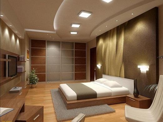 С помощью подсветки натяжных потолков можно создавать различное настроение