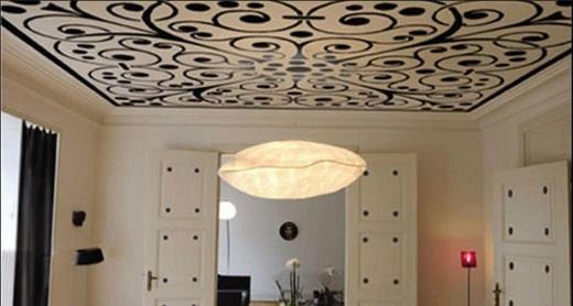 На снимке Натяжной потолок Клипсо с принтом