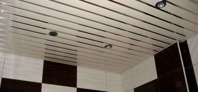 Инструкция, как установить потолок реечный в ванную комнату