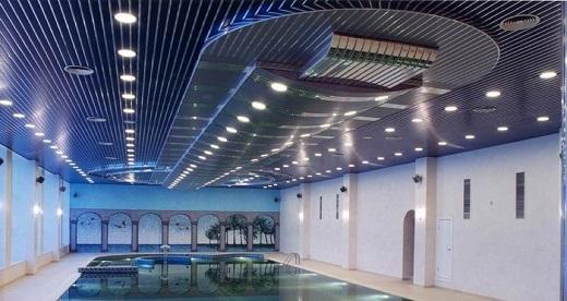 Реечный потолок Бард в интерьере на фото