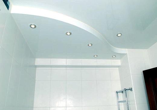Светильники для натяжного потолка в ванной комнате