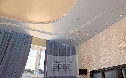 Натяжной потолок Мастер бобр в интерьере на фотографии