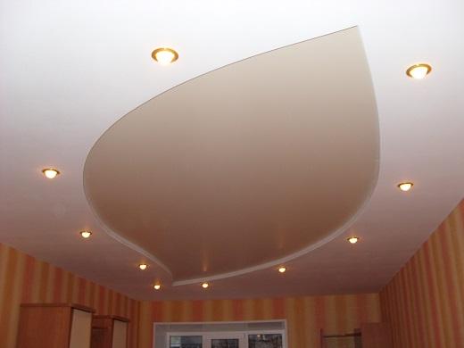 Установка двухуровневых натяжных потолков для спальни