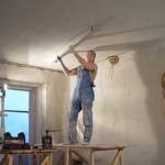 Руководство по нанесению штукатурки потолка Ротбандом
