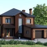 Проект дома с гаражом от профессионалов Dniprobud