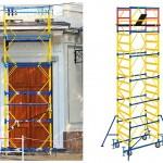 Достоинства применения передвижных строительных вышек-туров